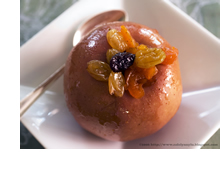 Image of a baked apple